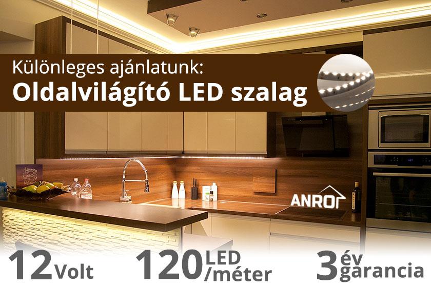 Világítási különlegesség: oldalvilágító LED szalag