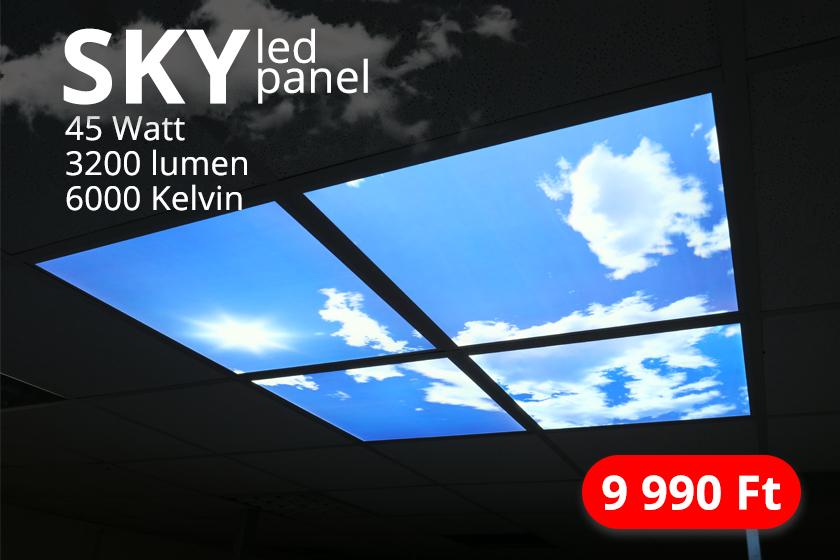 Különleges panel ajánlat: SKY led panel
