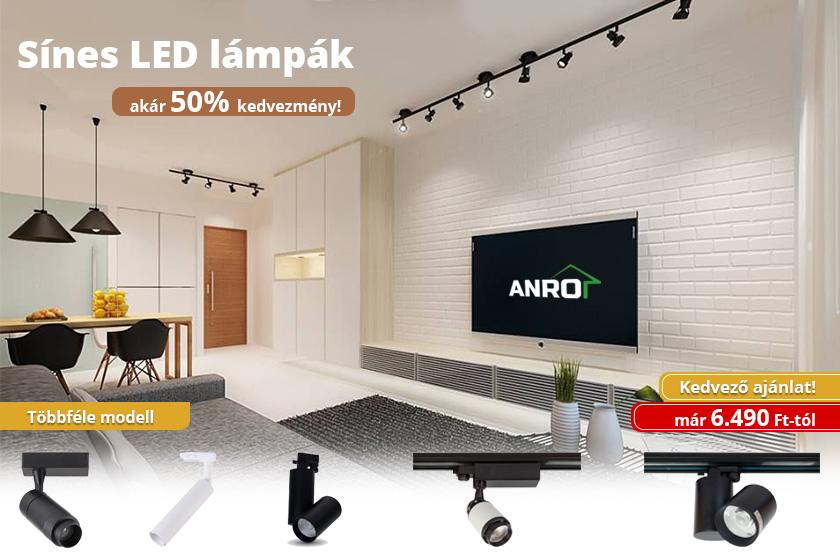 Sínes LED lámpák akár 50% kedvezménnyel!
