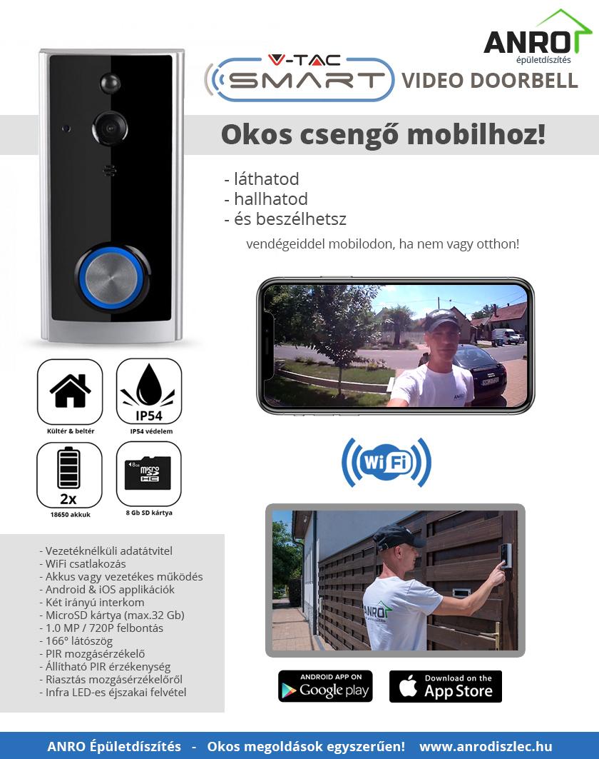 Smart video kaputelefon - okos csengő mobilos értesítéssel