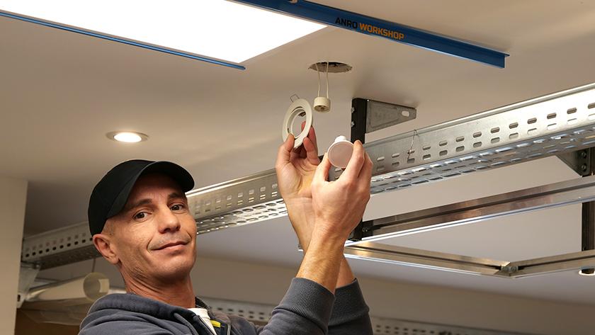Beépíthető lámpatestek szerelése - beépítés