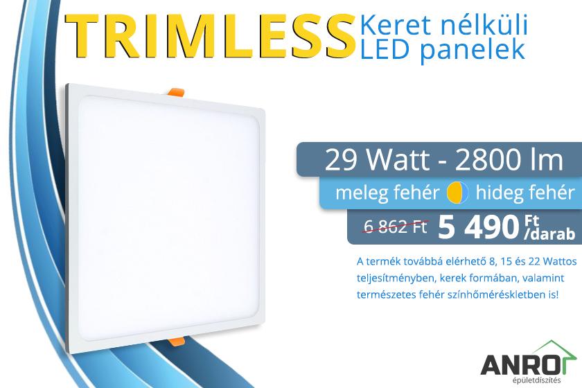 Keret nélküli LED panel akció az ANRO-nál!