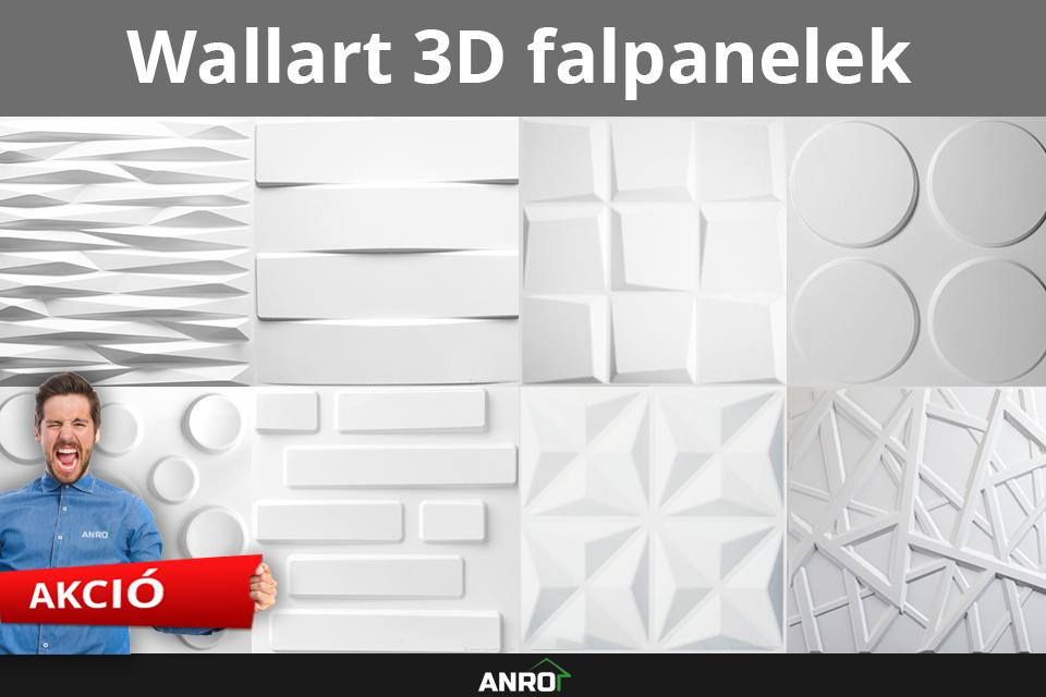 Wallart 3D falpanelek az ANRO-nál!