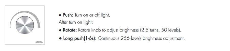 SD T1-KB Fali LED fényerőszabályzó, forgatógombos használata, programok