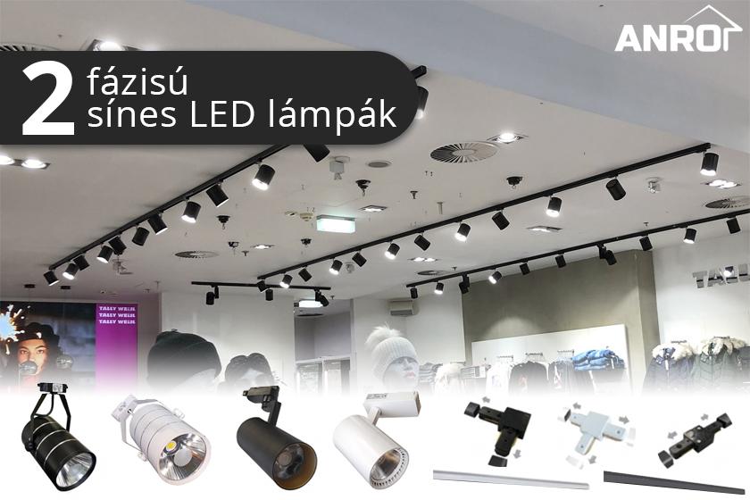 2 fázisú sínes rendszerrel működő lámpatestek!