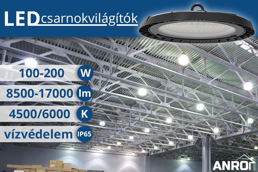 Csarnokvilágító LED lámpák az ANRO-nál!