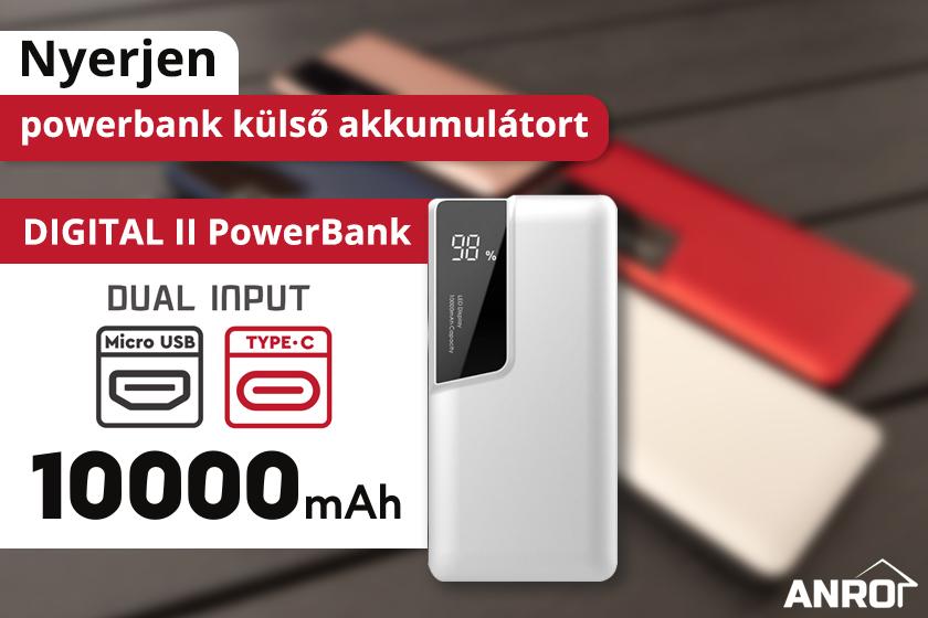 Nyerjen powerbank külső akkumulátort!