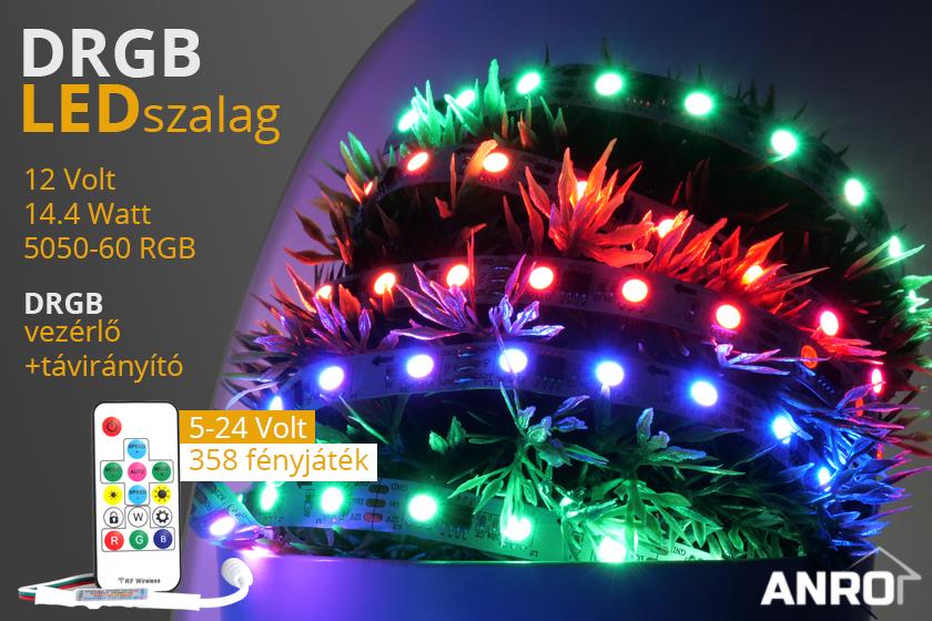 Világítási különlegesség az ANRO kínálatában, DRGB futófény LED szalag!