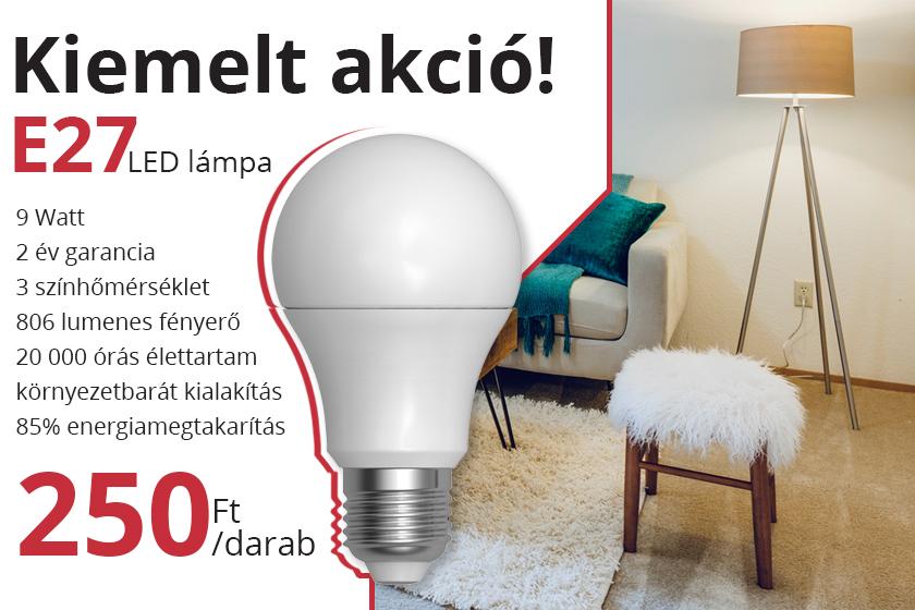 E27 LED lámpa akció az ANRO-nál!
