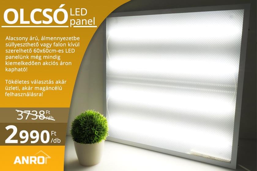 Olcsó LED panel akció!