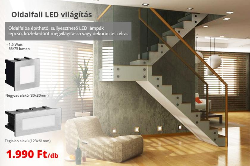 Oldalfali LED világítás