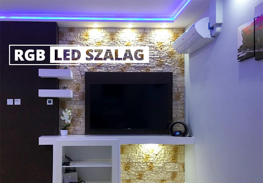 RGB LED szalag bemutató