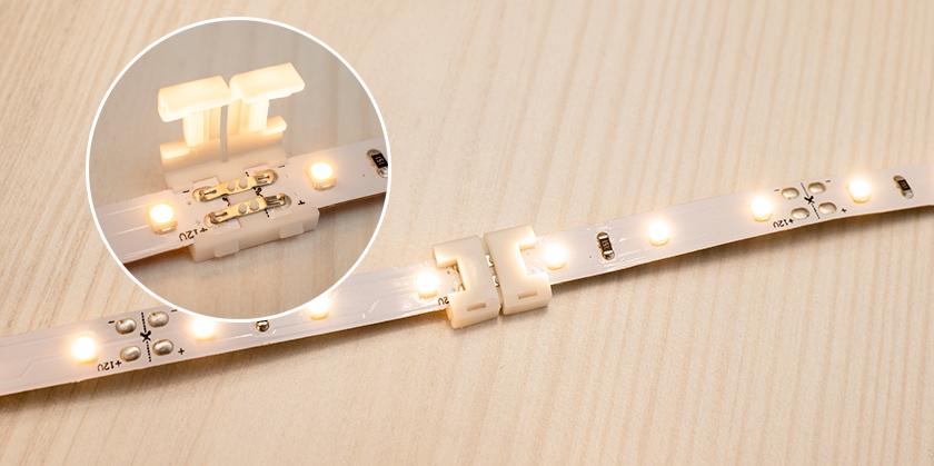Vágott LED szalag darabok toldása