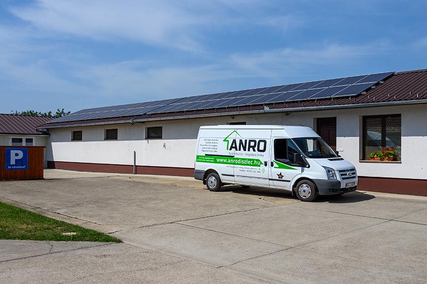 10 kWp napelem telepítése a Kemény J. krt. 20. alatti telephelyre