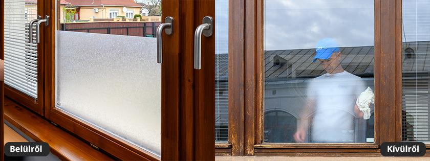 Jégvirág mintás üvegfólia az ablakokra