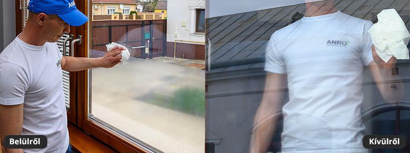 Öntapadós védőfólia ablak ajtó üveg védelmére