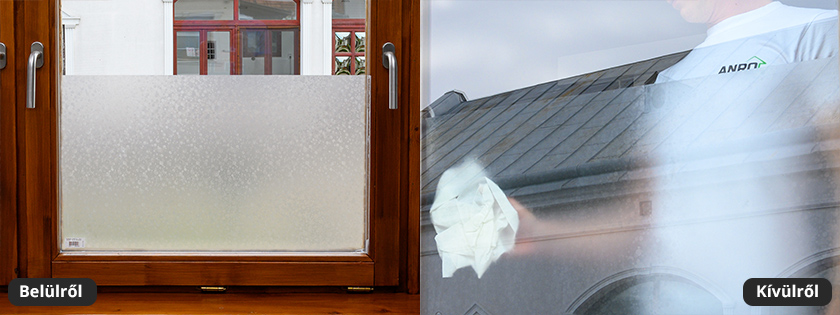 Pöttyös mintás üvegfólia ablakra, ajtóra