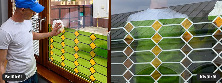 Reneszánsz mozaiküveg ablakfólia