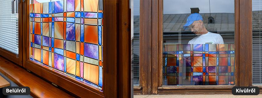 Barcelona ólomüveg mintás mozaiküveg fólia