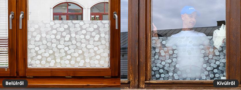 Kör mintás üvegfólia, ajtóra ablakra