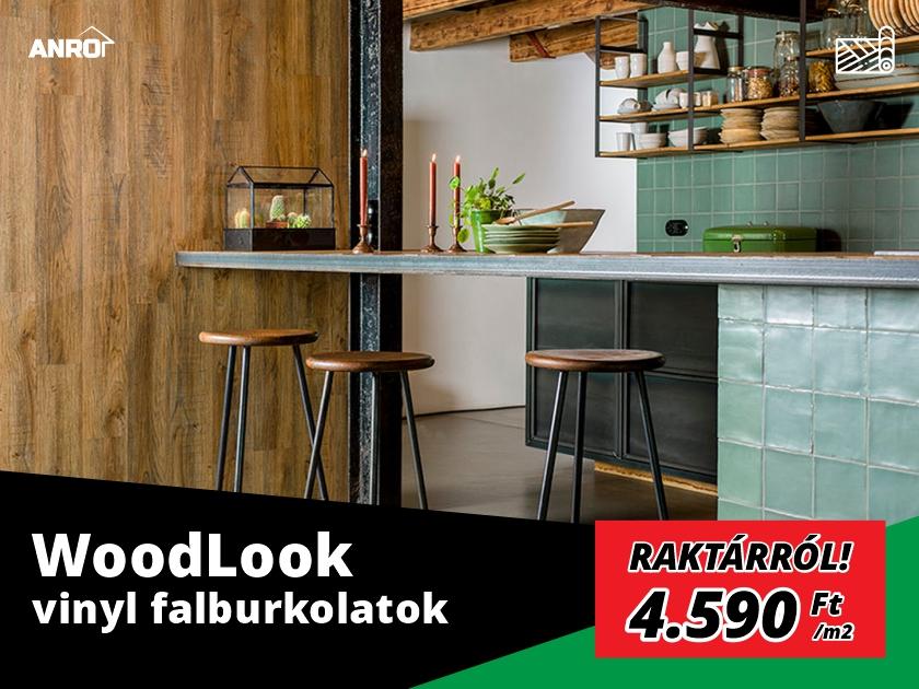 WoodLook vinyl falburkolatok raktárról!
