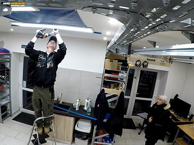 Családi LED panel szerelés: LED műhely világítás készítése