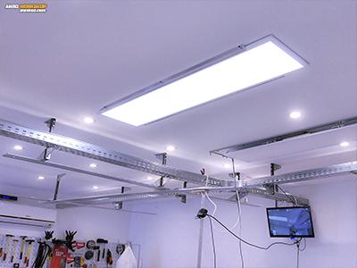 Alumínium színű LED panel tartóelem készítése házilag