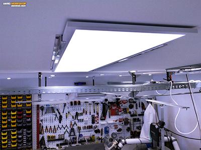 Alumínium profillal felszerelt LED panel