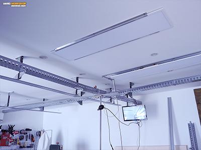 LED panel közvetlenül a gipszkartonra szerelve
