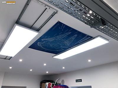 LED panel és vászonkép rögzítése