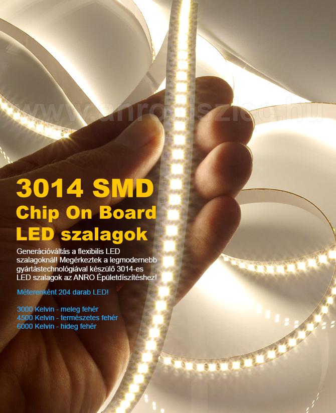 A legsűrűbb LED szalag: 204 db LED/méter