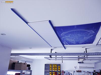 Házilag készült led világítás szerelés - csináld magad LED panel tartó.