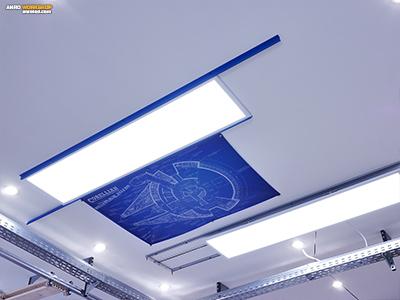 Asszimetrikus tartó keret LED panelhez könnyűfémből.