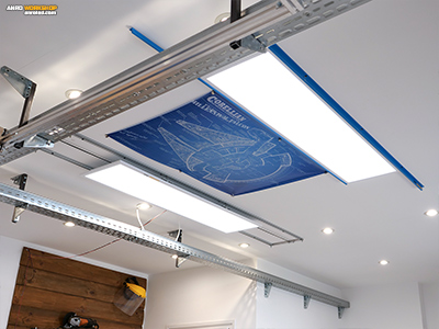 LED panel tartóelem U alakú alumínium profilból. Szereld magad házilag! A led panel tartó tesztje.