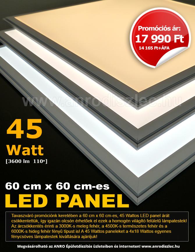 Februári LED panel promóció 17990 Ft/darab!
