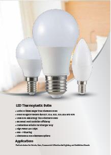 VTAC műanyag házas LED izzók