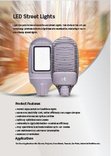 VTAC LED közvilágítási lámpák