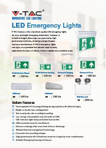 VTAC LED vészkijárat világítás