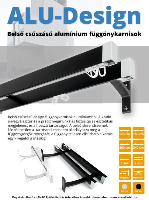 Belső csúszású alumínium függönykarnisok a minimal design jegyében