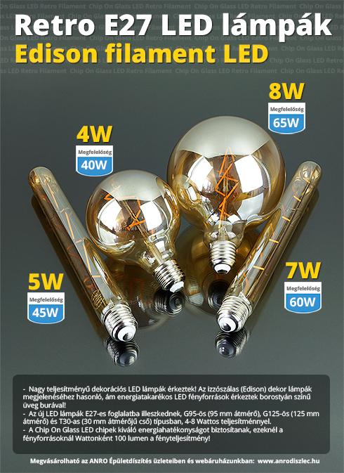 Vintage LED lámpa