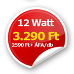 12 Wattos LED panel csak 3290 Ft!