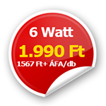 6 Wattos LED panel csak 1990 Ft!