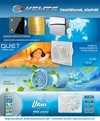 Elszívó ventilátorok