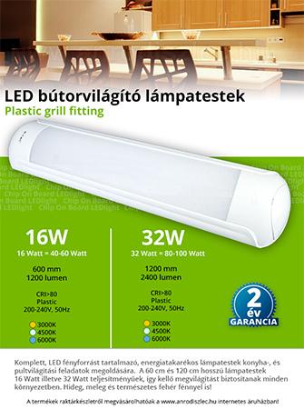 Ledes konyhapult világítás (16-32 Watt)