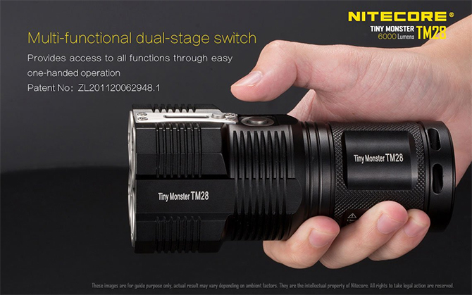 Nitecore Tiny Monster TM28 elemlámpa