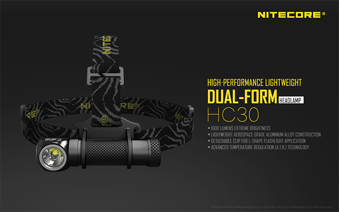 Nitecore HC30 High-Performance fejlámpa