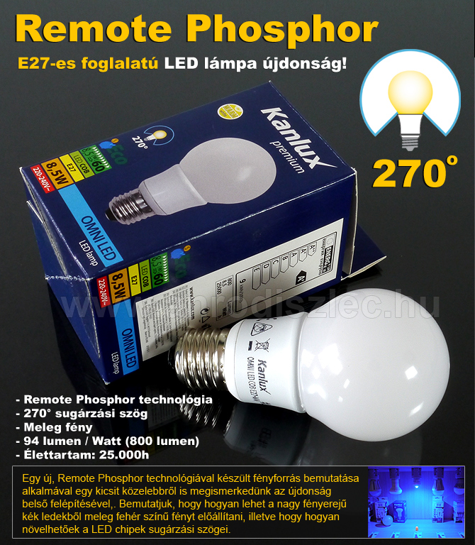 Remote Phosphor LED lámpák