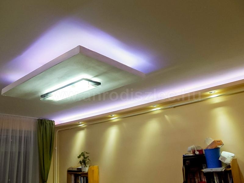 A színváltós LED világításokat általában a nappaliban szokták beépíteni