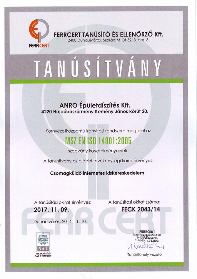 ISO 14001:2005 - elkötelezettség a környezet felé