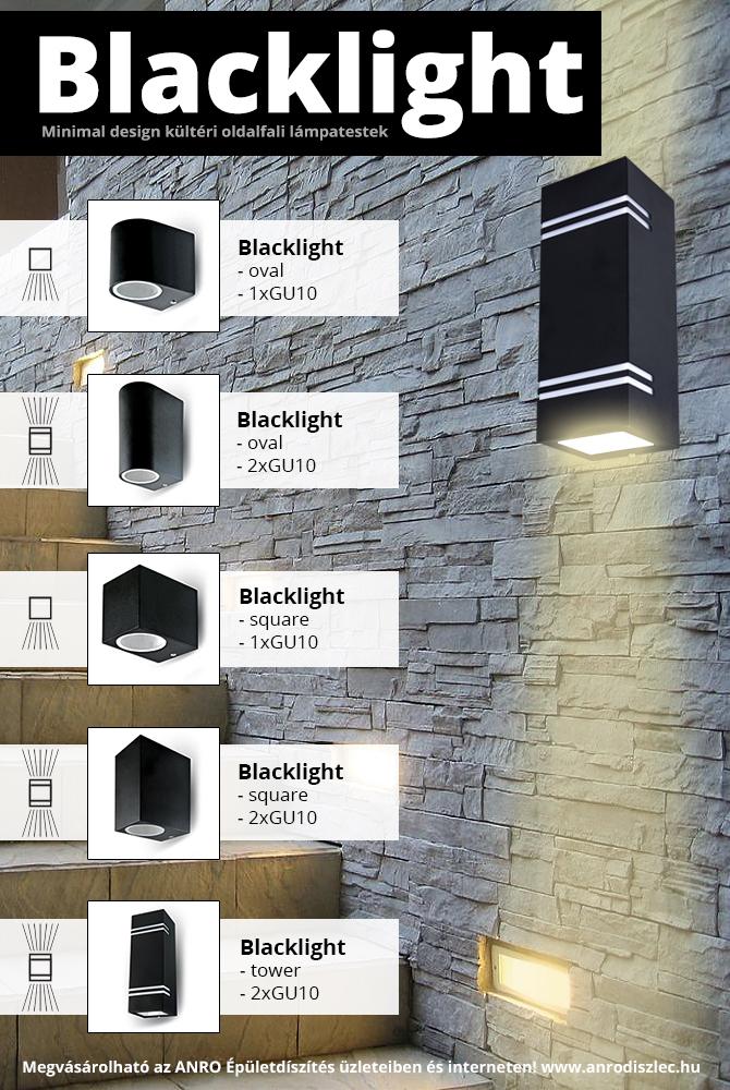 Új, kültéri súrlófényes lámpacsalád: Blacklight!